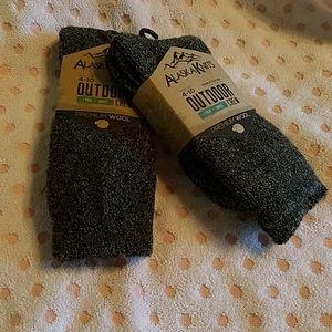 2 New Pairs of Ladies Alaska Knits Wool Socks